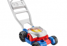 Read our detailed review of the Fisher Price Bubble Lawn Mower.