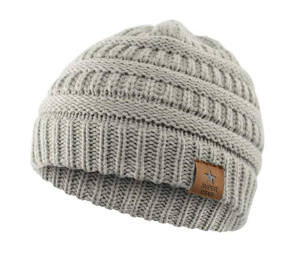 Durio Soft Knitted Cap Gray