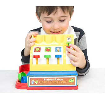 The Fisher-Price Cash Register teaches kids the basics of financial management.