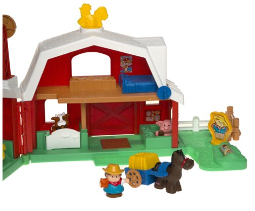 The Fisher-Price Little People Fun Sounds Farm includes figures.