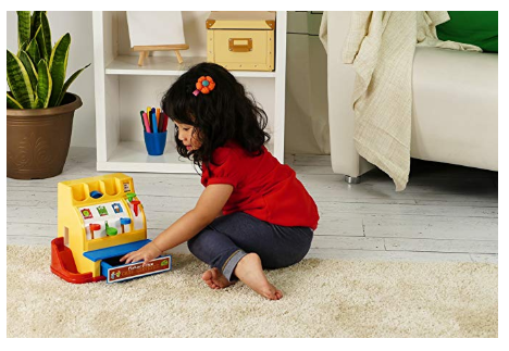 The Fisher-Price Cash Register keep kids engaged in tons of pretend play scenarios.