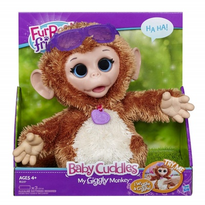 baby cuddles giggly monkey furreal friends package