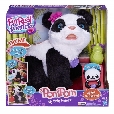 pom pom baby panda furreal friend package