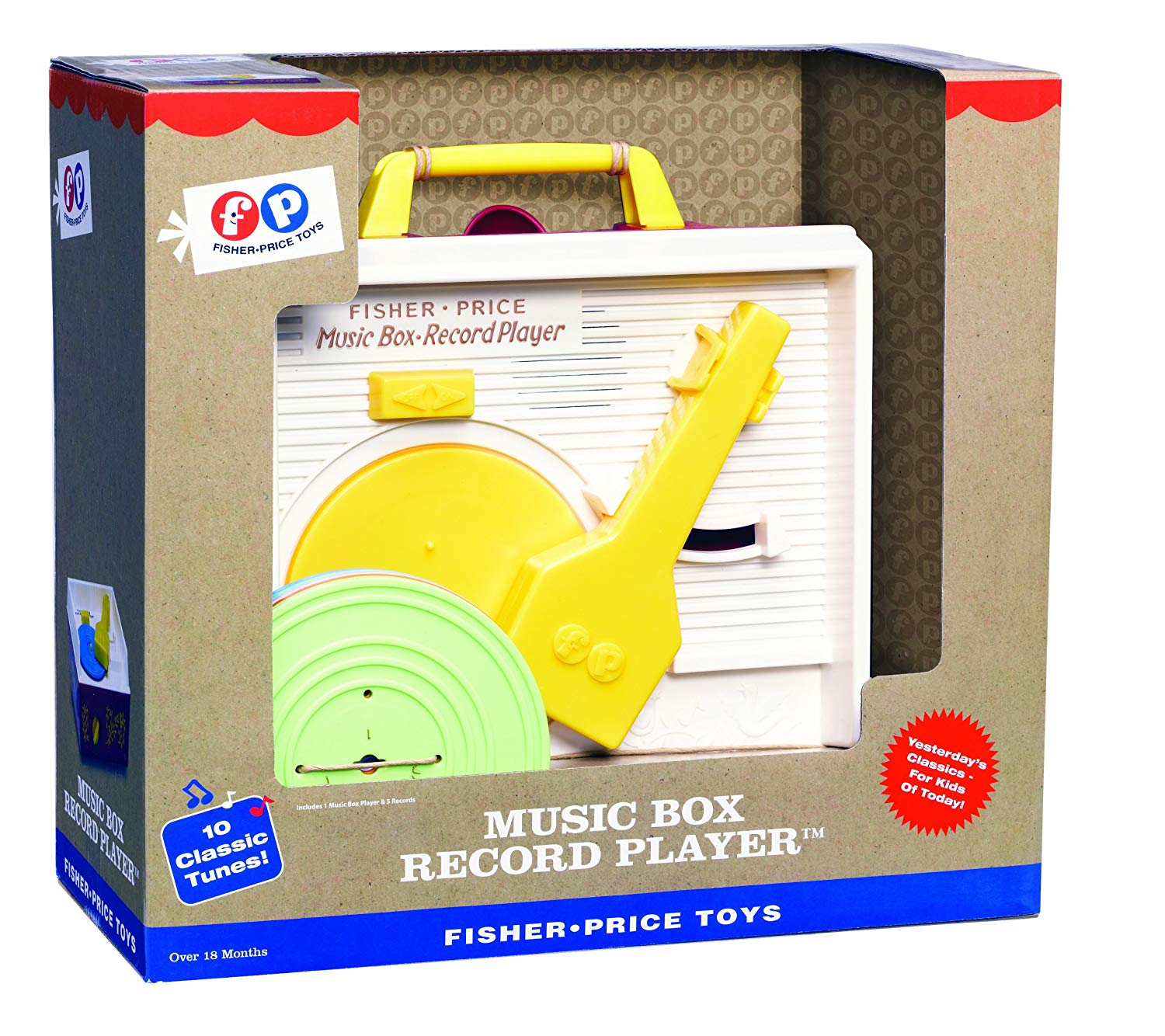 The Fisher Price Classics Retro Record Player is perfect for ages 18 months +.