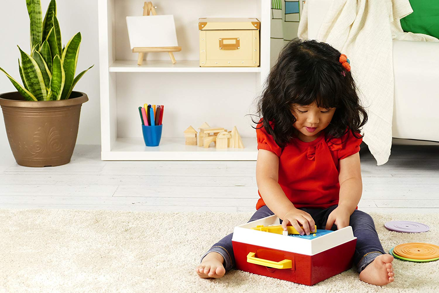 The Fisher Price Classics Retro Record Player is a classic toy.