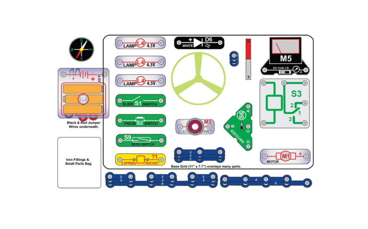 The Snap Circuits Stem Electronics Discovery Kit is a STEM toy.