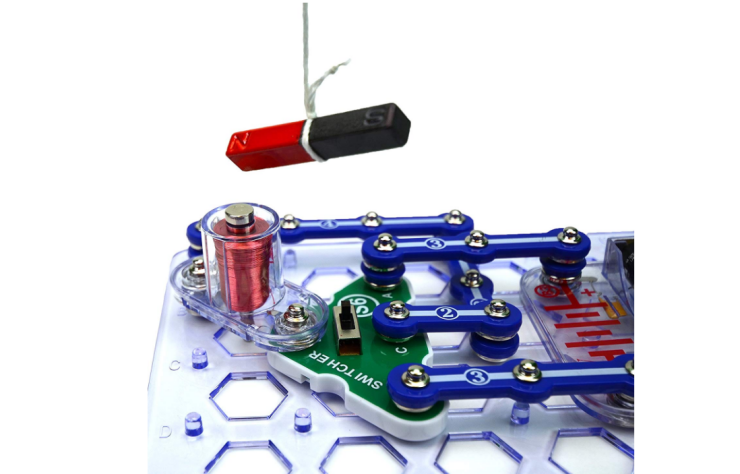 The Snap Circuits Stem Electronics Discovery Kit is an award-winning toy.