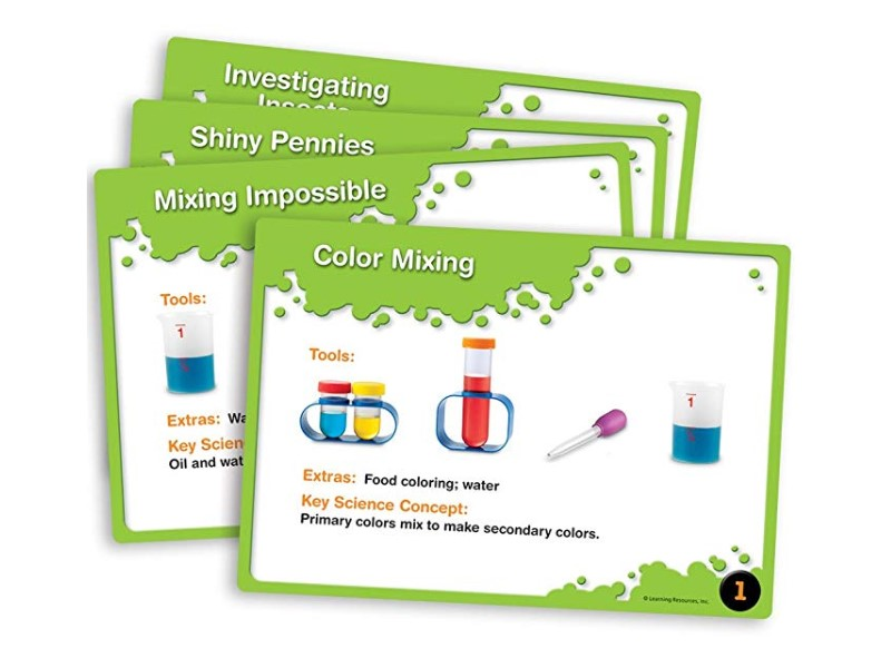 The Primary Science Lab Set comes with a bunch of fun, kid-safe experiments.
