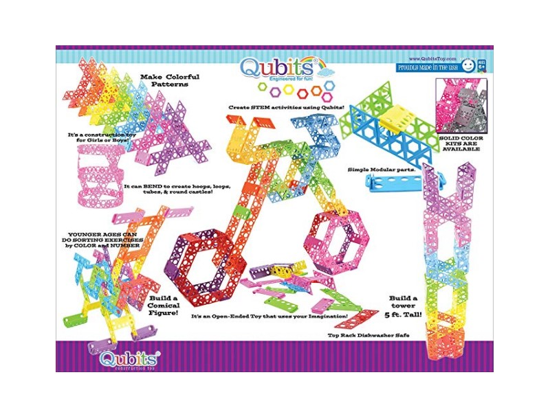 The Qubits STEM Construction Toy Kit features 42 pieces.