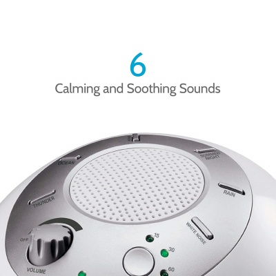 homedics portable white noise sleep sound machines calming sounds
