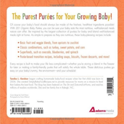 babyfood cookbook 201 Organic Baby Purees details