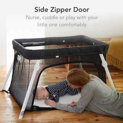 Guava Family Lotus Best Portable Cribs side zipper