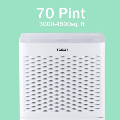 Tosot 70 Pint Dehumidifier Area Coverage
