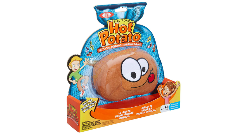 The Hot Potato Musical Passing Game can be played with the whole family.