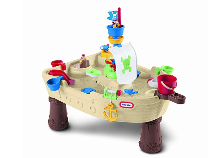 The Little Tikes Anchors Away Pirate Ship has spinning features.