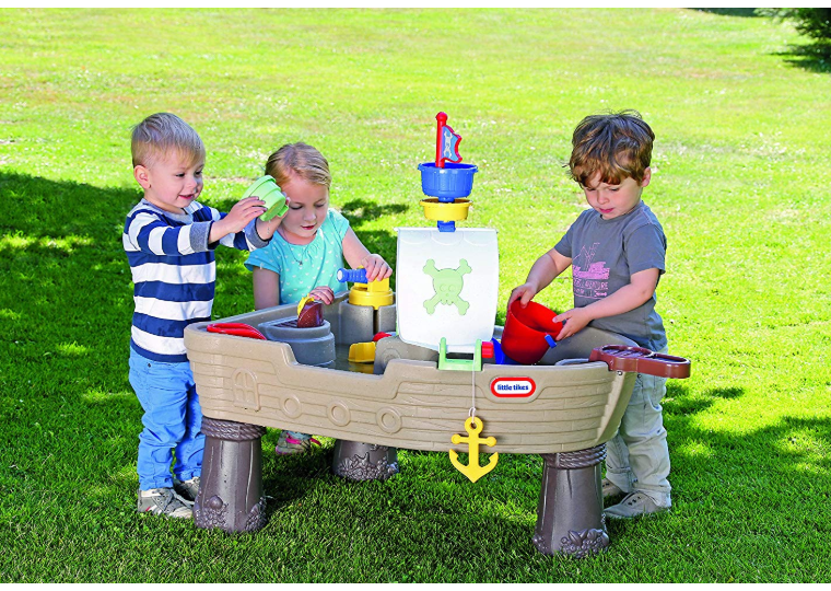 The Little Tikes Anchors Away Pirate Ship has plenty of accessories.