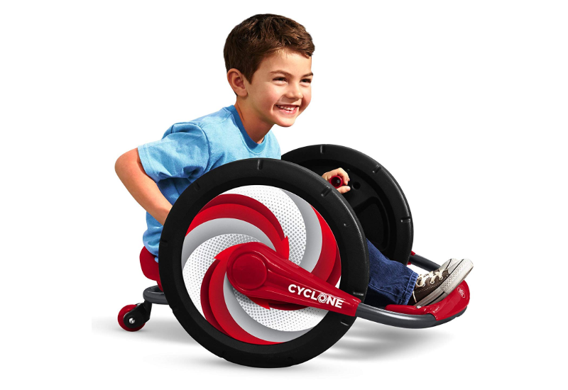 Radio Flyer Cyclone is great for childrens' physical development.