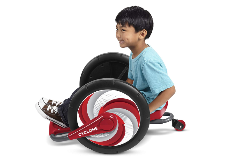 Radio Flyer Cyclone offers coordination practice for kids.