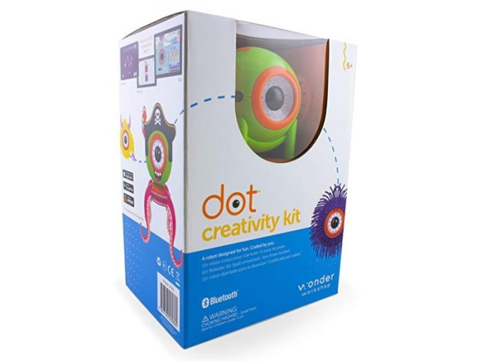 The Wonder Workshop Dot Creativity Kit Robot features educational games.