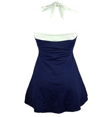 cocoship vintage sailor pin up maternity swimsuit back