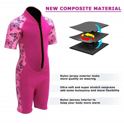 goldfin thermal 2mm kids wetsuit materials