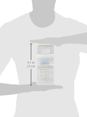 Dr. Brown's 50 Count Breast Milk Storage Bags size