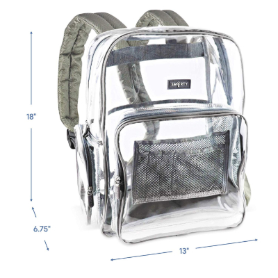 SMARTY Nylon Backpack dimensions