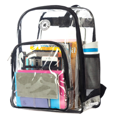 K-Cliffs See Through Backpack Compartments