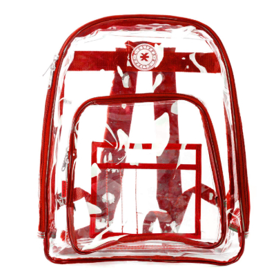 K-Cliffs See Through Backpack Red