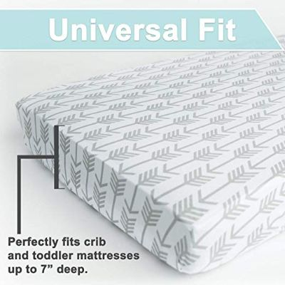 arrows & stars 100% premium jersey crib sheets universal fit