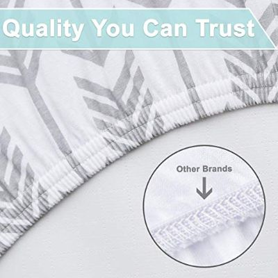arrows & stars 100% premium jersey crib sheets quality