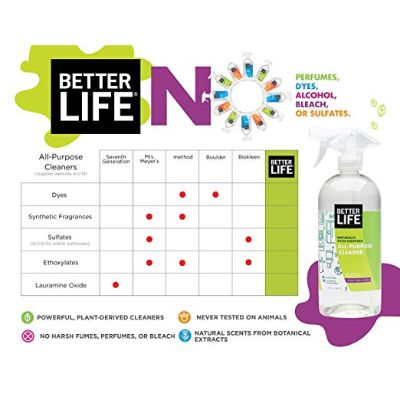 better life natural cleaning product features