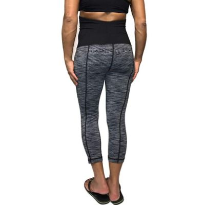 Cloya Maternity Leggings Heather Gray Back