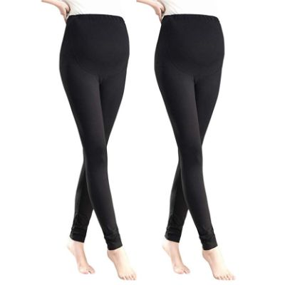 Foucome Over the Belly Maternity Legging Two Pack