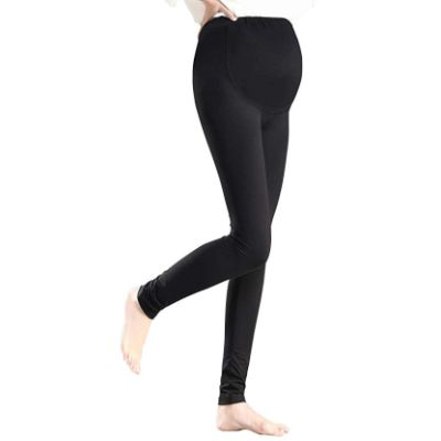 Foucome Over the Belly Maternity Legging Popped Leg