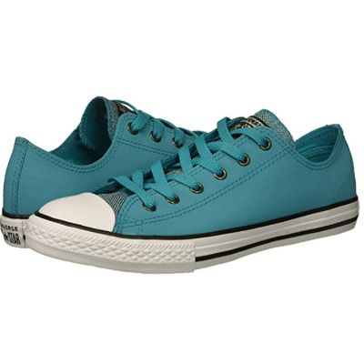 Glitter Leather Converse Lo Top Pair