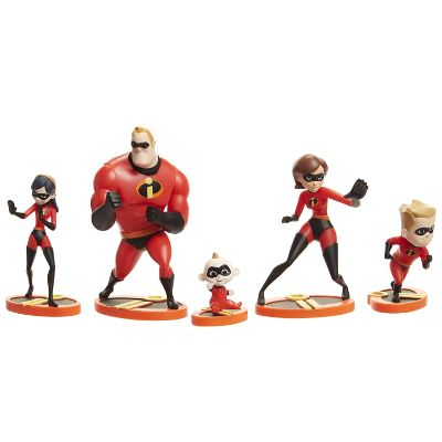 incredibles 5 piece family figure set design