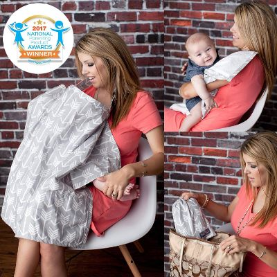 kids n' such sewn In burp cloth nursing cover how to use