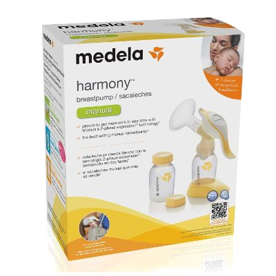 medela harmony manual 2-phase expression breast pump for mums box