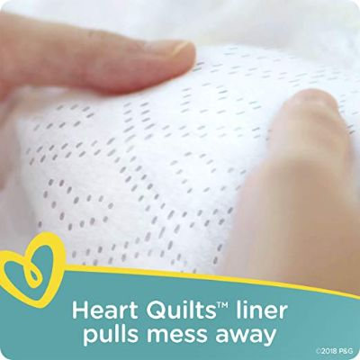 pampers swaddlers super pack overnight diapers heart quilt liner