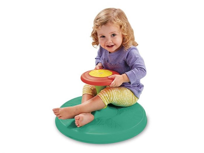 The Playskool Sit 'n Spin is safe and entertaining.