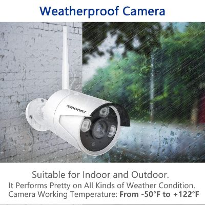 smonet 4CH HD wireless home security camera weatherproof