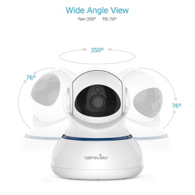 wansview wireless 1080P home security camera wide angle