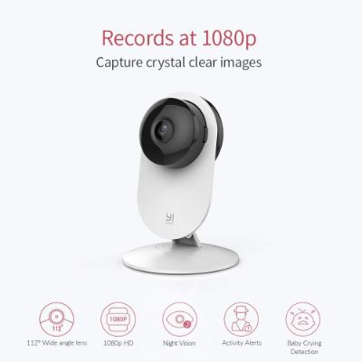 YI 4pc 1080p Wi-Fi home security camera recording