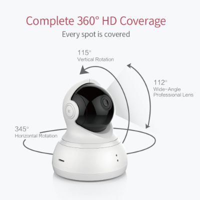 YI dome pan tilt zoom home security camera hd