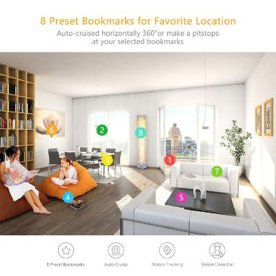 YI dome pan tilt zoom home security camera bookmarks