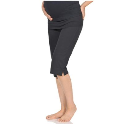 BeachCoCo Cropped Maternity Leggings Dark