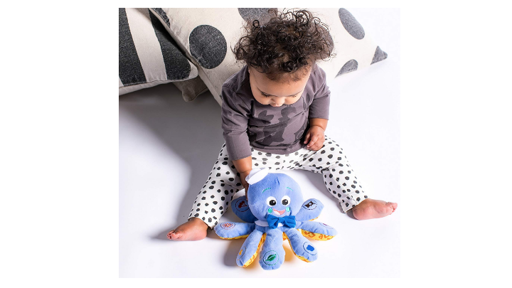 The The Baby Einstein Octoplush soft learning toy.
