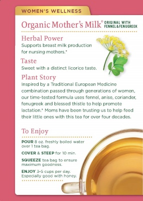traditional medicinals lactation tea use