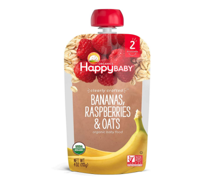 happy baby baby food pouch organic